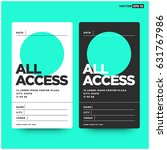 all access pass template with... | Shutterstock .eps vector #631767986