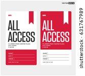 all access pass template | Shutterstock .eps vector #631767989