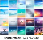big set of 20 square blurred... | Shutterstock .eps vector #631769930