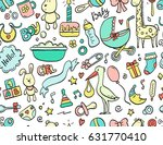hand drawn seamless pattern... | Shutterstock .eps vector #631770410