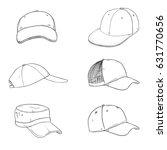 vector set of sketch baseball... | Shutterstock .eps vector #631770656