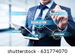 regulation compliance rules law ... | Shutterstock . vector #631774070