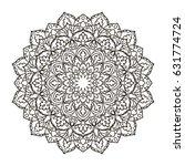 mandala. ethnic decorative... | Shutterstock .eps vector #631774724