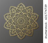 mandala. ethnic decorative... | Shutterstock .eps vector #631774739