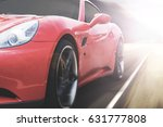 panning shot of a beautiful red ... | Shutterstock . vector #631777808