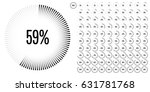 set of circle percentage... | Shutterstock .eps vector #631781768
