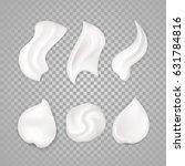 white cream elements.... | Shutterstock .eps vector #631784816