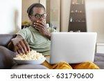 funny young dark skinned man... | Shutterstock . vector #631790600