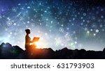 yoga as physical and spiritual... | Shutterstock . vector #631793903