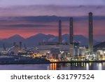 power station at dusk | Shutterstock . vector #631797524