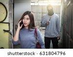beautiful young woman talking... | Shutterstock . vector #631804796