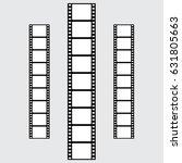 set of vector filmstrips.... | Shutterstock .eps vector #631805663
