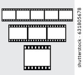 set of vector filmstrips.... | Shutterstock .eps vector #631805678