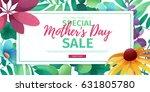 template design discount banner ... | Shutterstock .eps vector #631805780