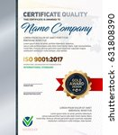 vector certificate quality... | Shutterstock .eps vector #631808390