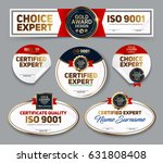 set of vector mini certificate... | Shutterstock .eps vector #631808408