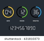 digital clock or countdown... | Shutterstock .eps vector #631810373