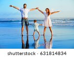 happy family   father  mother ... | Shutterstock . vector #631814834