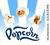 popcorn vector illustration.... | Shutterstock .eps vector #631815098