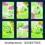 spring season sale poster... | Shutterstock .eps vector #631817543