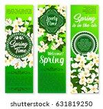 spring holidays floral banner... | Shutterstock .eps vector #631819250