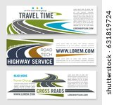 road travel and highway service ... | Shutterstock .eps vector #631819724
