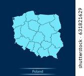 map of poland   Shutterstock .eps vector #631821629