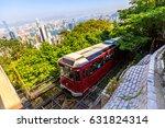the popular red peak tram as he ...   Shutterstock . vector #631824314