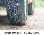 close up of tread tire 4x4 off... | Shutterstock . vector #631824398