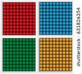 Set Of Seamless Checkered...