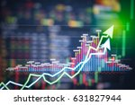stock market digital graph... | Shutterstock . vector #631827944