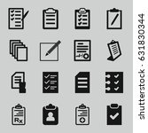 form icons set. set of 16 form... | Shutterstock .eps vector #631830344