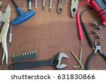 flat lay image of various hand... | Shutterstock . vector #631830866