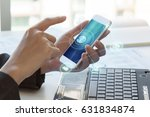 business man using mobile... | Shutterstock . vector #631834874
