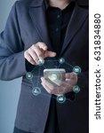 business man using mobile... | Shutterstock . vector #631834880