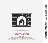 fireplace icon | Shutterstock .eps vector #631836338
