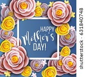 mothers day greeting card with... | Shutterstock .eps vector #631840748