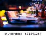 luxury table setting   | Shutterstock . vector #631841264