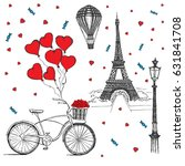 set of hand drawn french icons  ... | Shutterstock .eps vector #631841708
