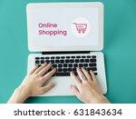 hands working on laptop network ...   Shutterstock . vector #631843634
