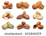Set Of Various Nuts Isolated O...