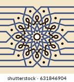 morocco interlaced seamless...   Shutterstock .eps vector #631846904