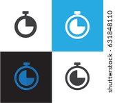 time and clock icon vector... | Shutterstock .eps vector #631848110
