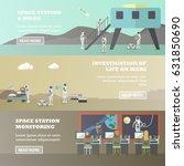 vector set of space exploration ... | Shutterstock .eps vector #631850690