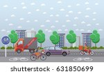 vector set of food delivery... | Shutterstock .eps vector #631850699