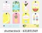 summer set of sale and gift... | Shutterstock .eps vector #631851569