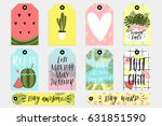 summer set of sale and gift... | Shutterstock .eps vector #631851590
