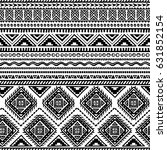 vector seamless pattern in... | Shutterstock .eps vector #631852154