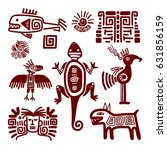 maya or indian traditional... | Shutterstock .eps vector #631856159