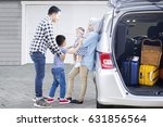 picture of muslim parents with... | Shutterstock . vector #631856564